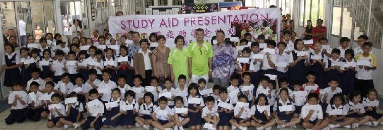 22.02.2014 Study Aid Donation to 100 needy pupils in Malacca  捐献助学金予马六甲的100 位贫困学生