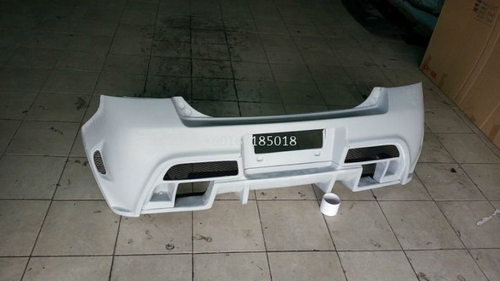 2005 2006 2007 2008 2009 2010 2011 suzuki swift zc tm square style rear bumper for swift replace upgrade tm square style performance look frp fiber material new set