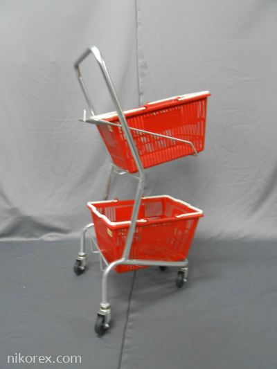 160302SV - Shopping Trolley 2 Layers (Silver) E2