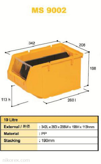 80320-MS9002 342X208X198MM STORAGE BIN