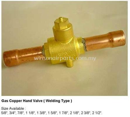 Gas Copper Hand Valve - Welding Type