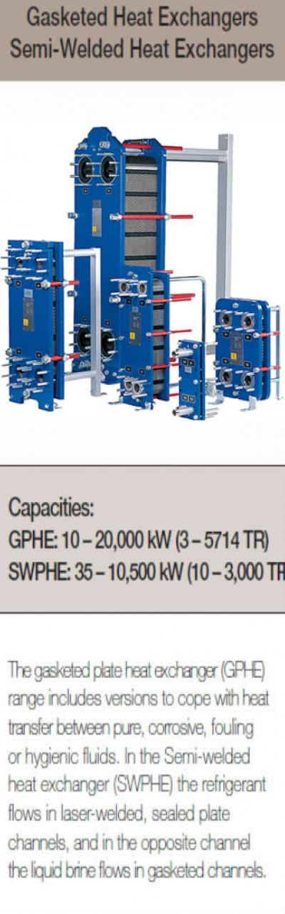 Gasketed Heat Exchangers Semi-Welded Heat Exchangers