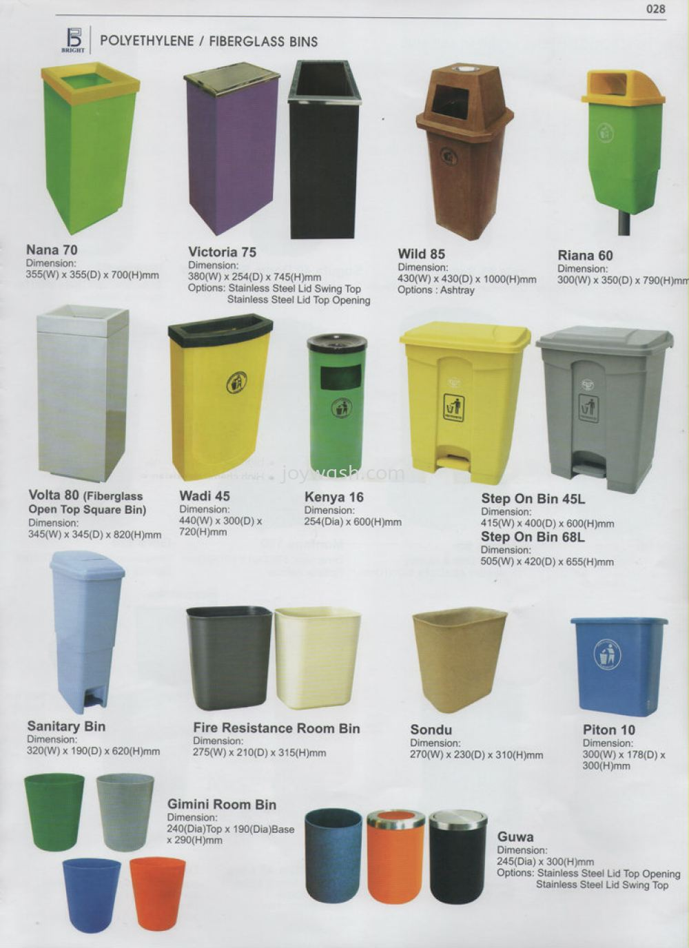 Polyethylene / Fiberglass Bins Recycle Bin & Tong Sampah Johor Bahru (JB), Batu Pahat, Pontian Manufacturer, Suppliers, Supplier, Supply | Joywash Marketing