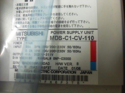 MDS-C1-CV-110 MDSC1CV110 Power Supply Unit Mitsubishi Malaysia Singapore Thailand Indonesia