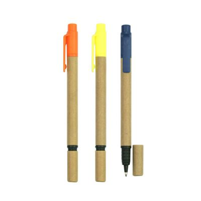 ECO044 Recycled Paper Ball Pen & Highlighter