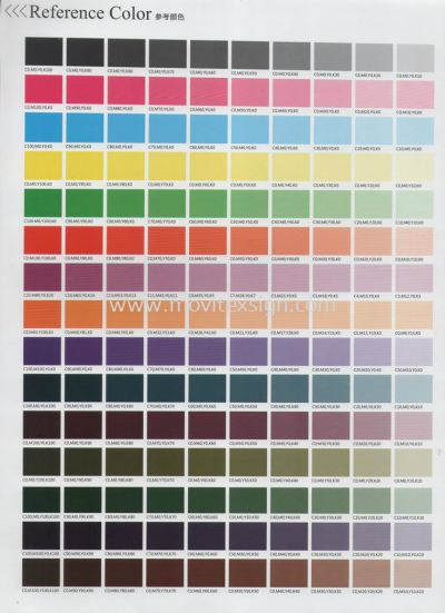 inkjet colour reference chart