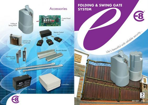 E8 DC Swing Gate System ( Above Ground Type ) - Model E-5000