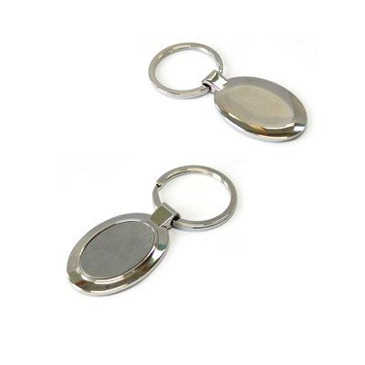KH026 Metial Keychain in Oval Shape
