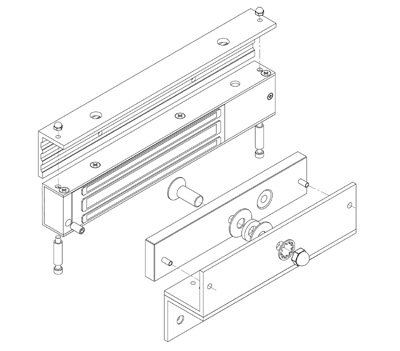 EBELCO Door Bracket ( EM600-ZL Bracket )