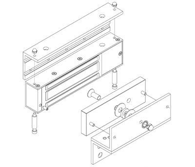 EBELCO Door Bracket ( EM1200-ZL Bracket )