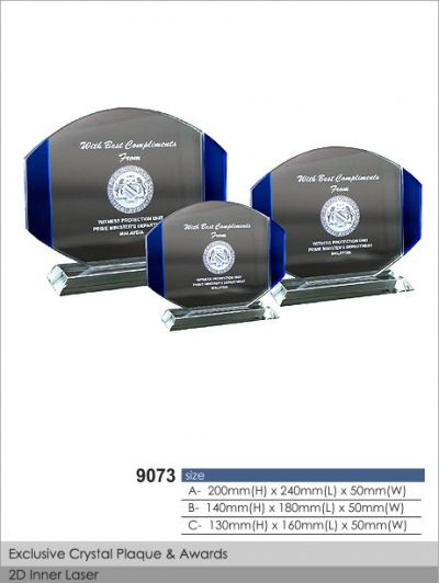 Crystal Plaque / Awards (CT19)