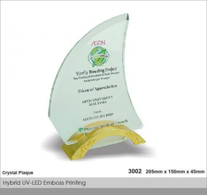 Crystal Plaque / Awards (CT41)