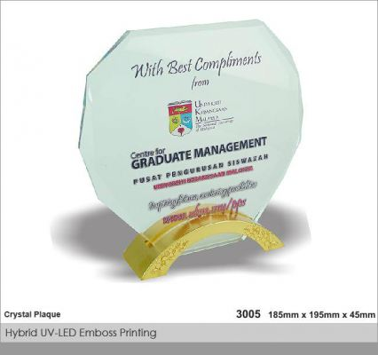 Crystal Plaque / Awards (CT38)