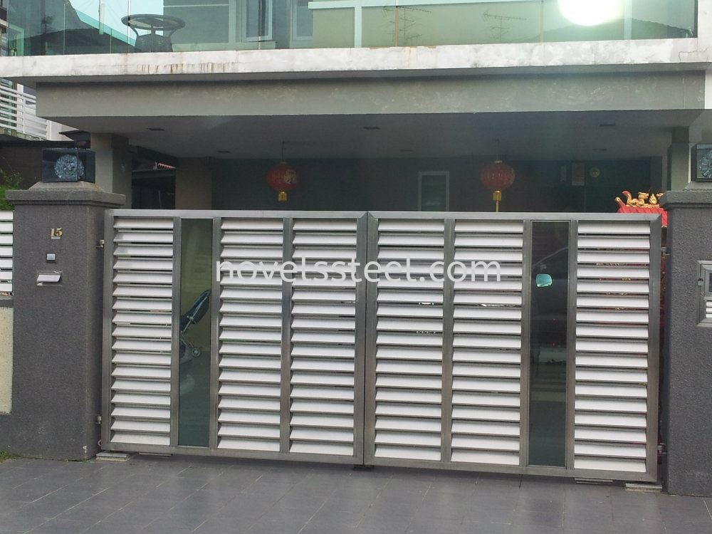 Stainless steel main gate 038 stainless steel main gate for Door design johor bahru