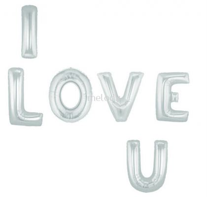 Foil Balloon/I LOVE YOU/Silver - 2330 1272
