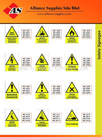 15.13.5 Safety Signages