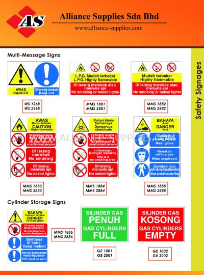 15.13.9 Safety Signages