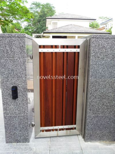 Stainless Steel Main single gate door 009