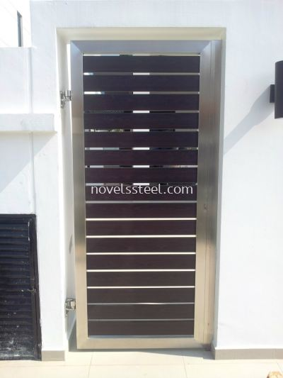 Stainless Steel Main single gate door 011