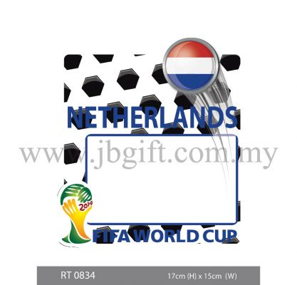 RT 0834 Car Decal (Road Tax Sticker) - FIFA Netherlands 17cm x 15cm