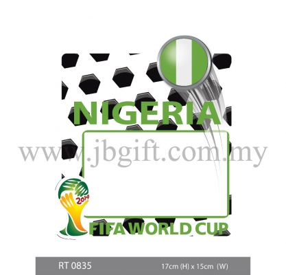 RT 0835 Car Decal (Road Tax Sticker) - FIFA Nigeria 17cm x 15cm