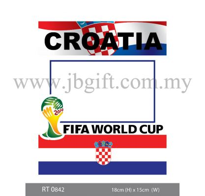 RT 0842 Car Decal (Road Tax Sticker) - FIFA Croatia 18cm X 15cm