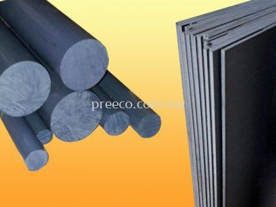 PVC Sheet and PVC Rod Grey