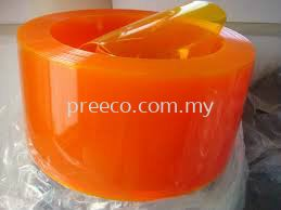 PVC Curtain Strip Yellow/ Orange