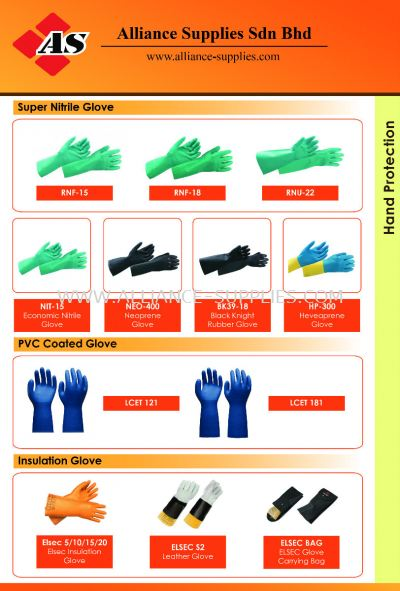 15.05.1 Nitrile Gloves/ PVC Gloves/ Insulated Gloves