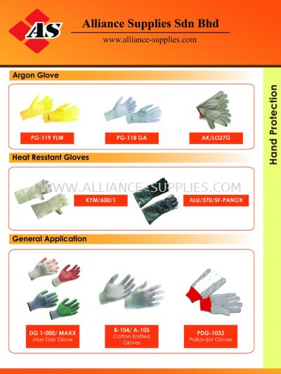15.05.3 Argon Gloves/ Heat Resistant Gloves/ General Application Gloves
