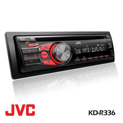 JVC KD-R336 CD Receiver with Dual AUX