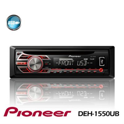 Pioneer DEH-1550UB CD Receiver with Front USB Port