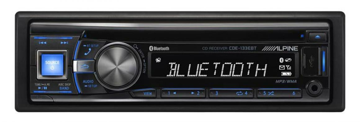 Alpine CDE-133EBT Advanced Bluetooth CD Receiver