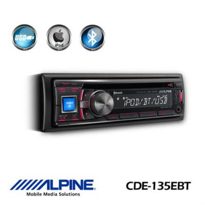 Alpine CDE-135EBT CD Receiver with Bluetooth / USB / Nokia and iPod Controller
