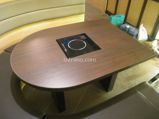 Custom made 6 Pax Curve Dining Table