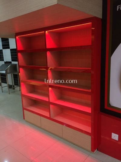 Commercial Display Cabinet with Laminated finish (FREE QUOTATION)