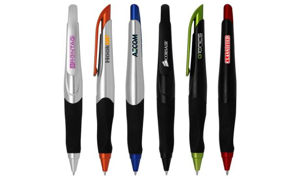 PP042 Push Action Ball Plastic Pen 04