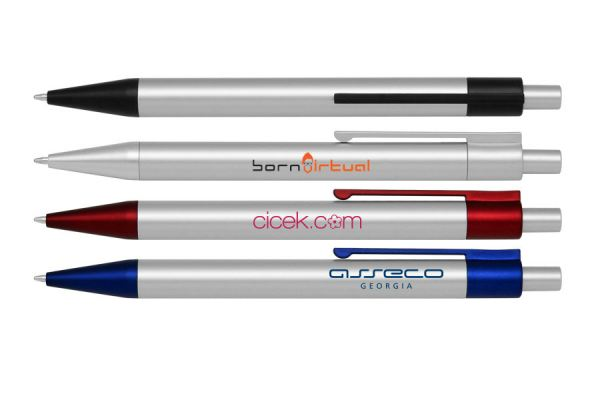 PP040 Push Action Ball Plastic Pen 02