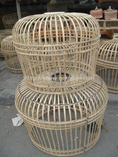 CAG 008 - CHICKEN CAGE (BAMBOO) XL - S/2
