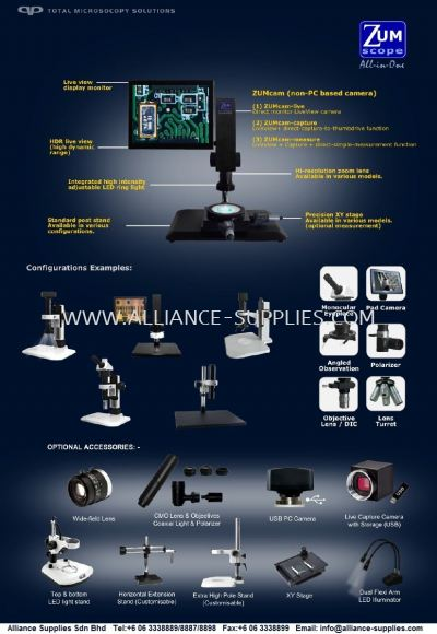 QP OPTIC High Resolution Zoom Microscope(All In One)