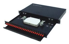 ST/FC 24PORT SIMPLEX FIBER PATCH PANEL (SLIDING OUT)