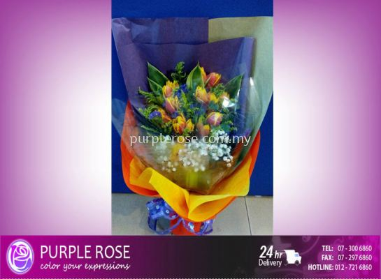 Lillies/Tulips bouquet 13(SGD76)
