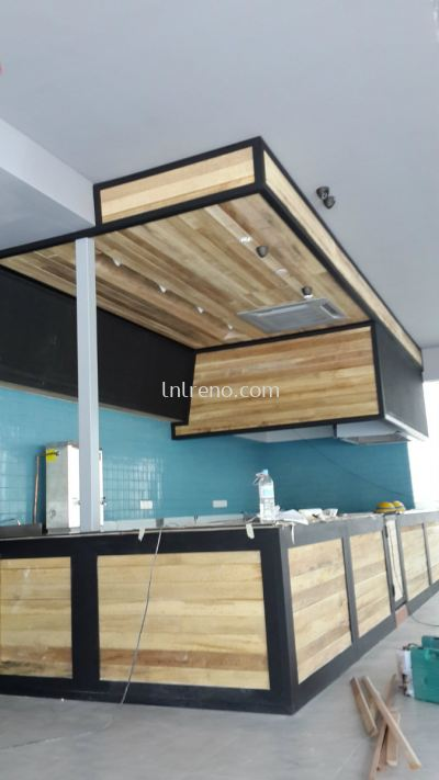 Commercial Raw wood design for commerial cafe (FREE QUOTATION)