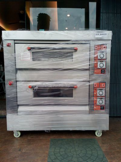 Kim Bakery 2 Decks 4 Trays Gas Oven (Ketuhar Gas)