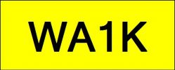 Number Plate WA1K Wilayah Golden Plate