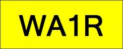 Number Plate WA1R Wilayah Golden Plate