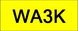 Number Plate WA3K Wilayah Golden Plate