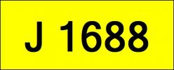 J1688 Rare Classic Plate