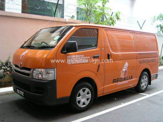 Van for document delivery advertisement   V06 (click for more detail)