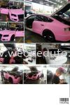 Mat pink audi A5 car wrapping  Car Sticker Design